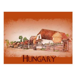 Vintages Dorf von Ungarn Postkarten