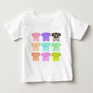 Vintages Drehskalatelefon Baby T-shirt