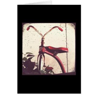 Vintages Dreirad Karte