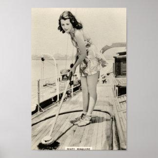 Vintages Dreißigerjahre Filmstar-Porträt-Plakat Poster