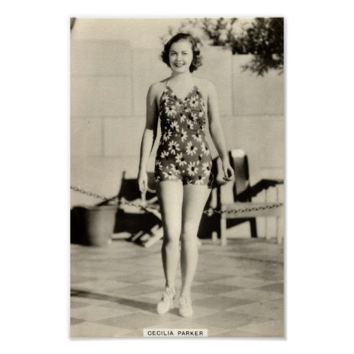Vintages Dreißigerjahre Filmstar-Porträt-Plakat