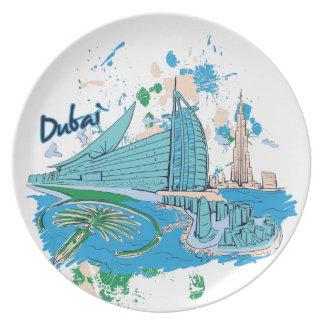Vintages Dubai wir e-Entwurf Teller