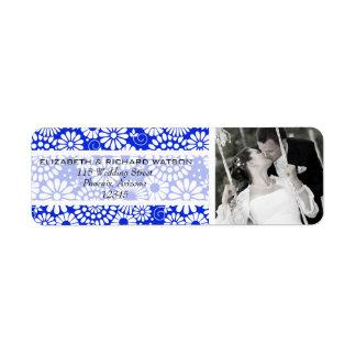 Vintages dunkelblaues Hochzeits-mit