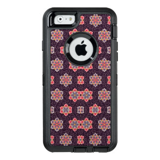 Vintages dunkles Lila mit Blumen OtterBox iPhone 6/6s Hülle
