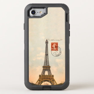 Vintages Eiffel-Turm OtterBox Verteidiger iPhone OtterBox Defender iPhone 8/7 Hülle