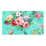 Vintages elegantes rosarotes gelbes Rosen-Muster Visitenkarte