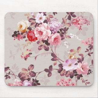 Vintages elegantes rosarotes lila Rosen-Muster Mousepad