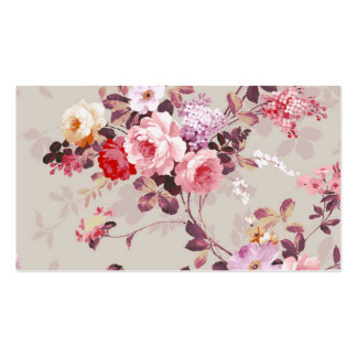 Vintages elegantes rosarotes lila Rosen-Muster Visitenkarten Vorlage