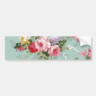 Vintages elegantes rosarotes Rosen-Muster Autoaufkleber