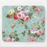 Vintages elegantes rosarotes Rosen-Muster Mauspad