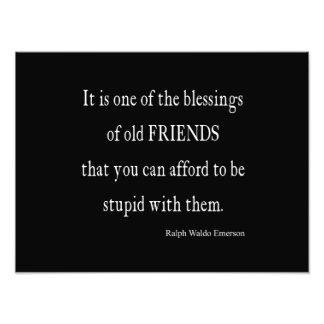 Vintages Emerson-Freundschafts-Segen-Zitat