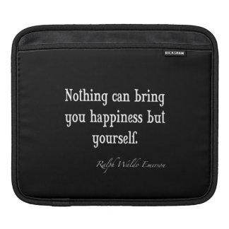 Vintages Emerson-Glück-Inspirational Zitat Sleeves Für iPads