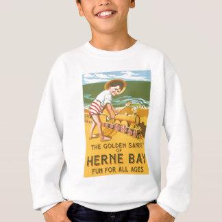 Vintages Englisch-Reise-Plakat Sweatshirt