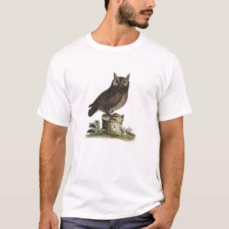 Vintages Eulen-Zeichnen T-Shirt