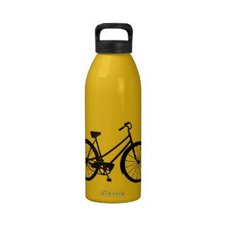 Vintages Fahrrad - Aluminiumwasser-Flasche (dunkle Trinkflaschen