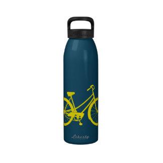 Vintages Fahrrad - Aluminiumwasser-Flasche (gelbes Trinkflasche