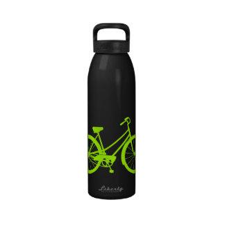 Vintages Fahrrad - Aluminiumwasser-Flasche Neon-G Wasserflaschen