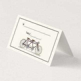 Vintages Fahrrad errichtet für 2 Platzkarte