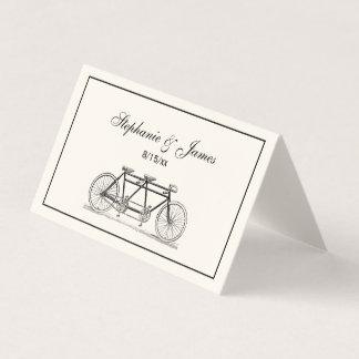 Vintages Fahrrad errichtet für Platzkarte