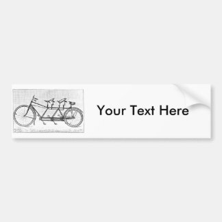 Vintages Fahrrad für drei viktorianische Fahrräder Autoaufkleber