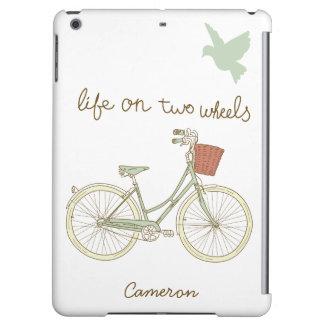 Vintages Fahrrad mit Weidenkorb-iPad Air ケース