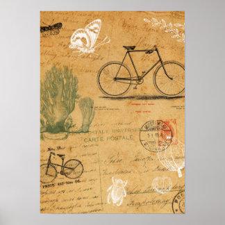 Vintages Fahrrad-Plakat Poster
