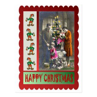 Vintages Familie Weihnachten Postkarte