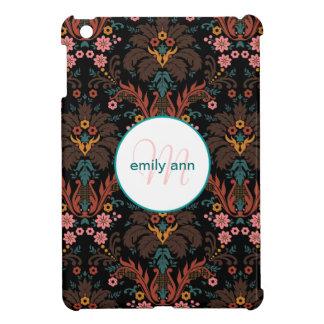 Vintages Farn-Damast-Monogramm-Blumenmuster iPad Mini Hülle