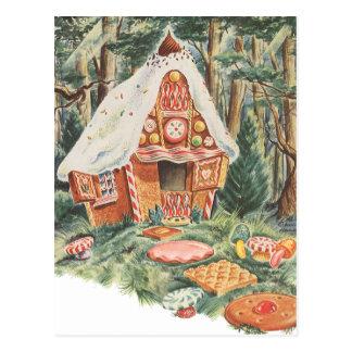 Vintages feenhafte Geschichten-, Hansel und Gretel Postkarte