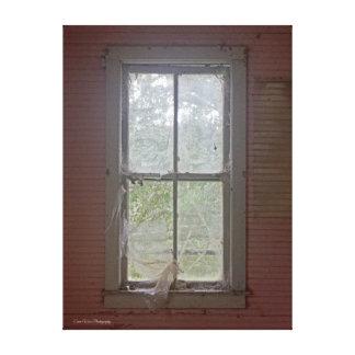 Vintages Fenster Leinwanddruck