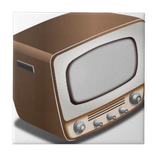 Vintages Fernsehen Fliese
