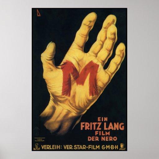 Vintages Film-Plakat 1931 M