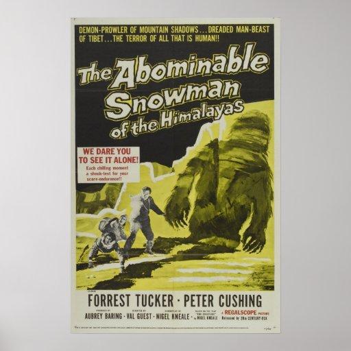 VINTAGES FILM-PLAKAT - DER ABSCHEULICHE SNOWMAN
