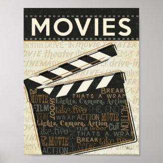 Vintages Film-Scharnierventil Plakatdrucke