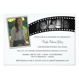 Vintages Film-Streifen-Abschluss-Party-Foto laden 12,7 X 17,8 Cm Einladungskarte