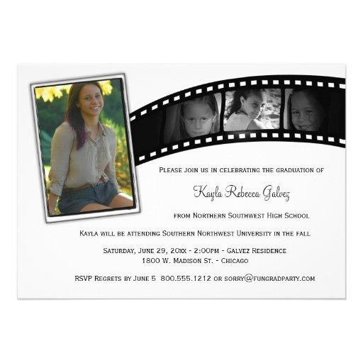 Vintages Film-Streifen-Abschluss-Party-Foto laden  Ankündigungskarte