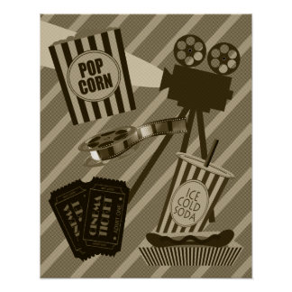 Vintages Film-Theater-Plakat