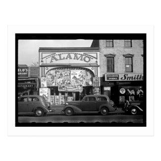 Vintages Film-Theater Postkarte