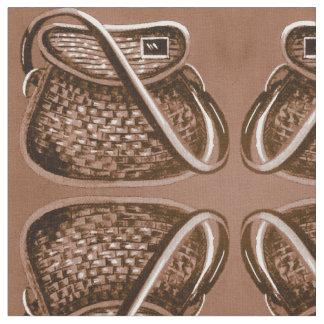 Vintages Fischen-Antiken-Korb-Gewebe Stoff