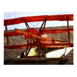 Vintages Flugzeug durch Shirley Taylor Postkarte