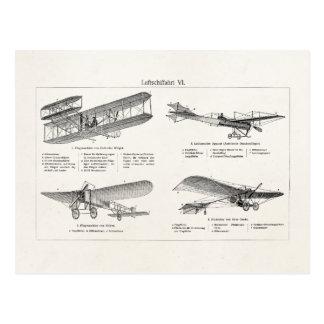 Vintages Flugzeug-Retro alte Postkarte