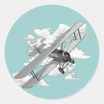 Vintages Flugzeug Runde Aufkleber