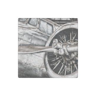 Vintages Flugzeug Steinmagnet