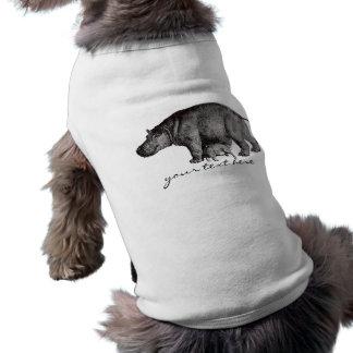 Vintages Flusspferd-Haustier-Shirt Shirt