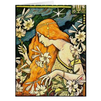 Vintages förderndes Plakat 1897 Riesige Grußkarte