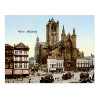 Vintages Foto: Gent, Belgien Postkarte