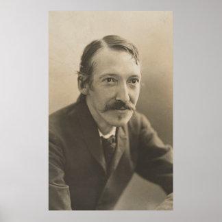 Vintages Foto-Porträt Roberts Louis Stevenson Poster