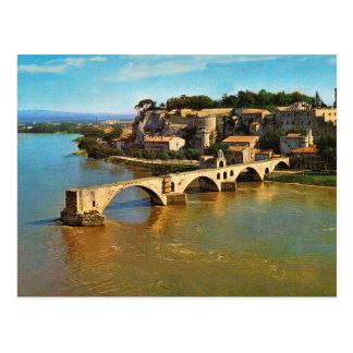 Vintages Frankreich, Avignon; defekte Brücke Postkarte