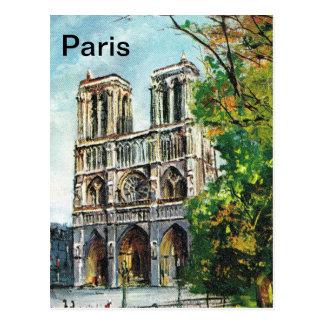 Vintages Frankreich, Notre Damede Paris Postkarte