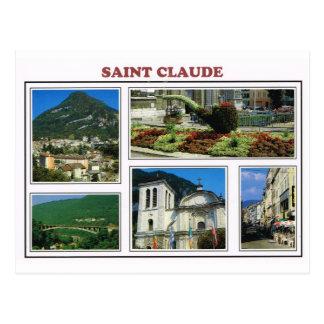 Vintages Frankreich-St. Claude, Jura, Postkarte